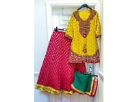 3 colored Bridal partywear