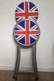 Union Jack foldaway stool and mat, brand new unused.
