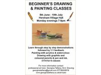 Beginners Drawing and Painting classes at Hersham Village Hill starting 5th June