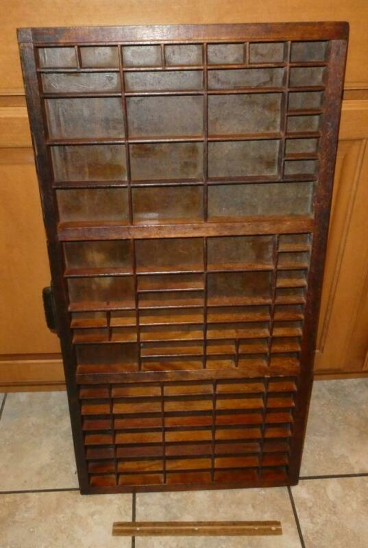 Vintage Hamilton Wood Printers Drawers Letterpress Print Type Set Tray Shadowbox