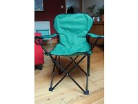 Two fold-up camping chairs very good condition