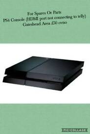Ps4 console for spares or parts