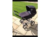 silver cross sleepover elegance with car seat and isofix