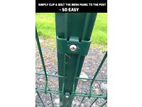 Dog Run mesh panel and post Fencing