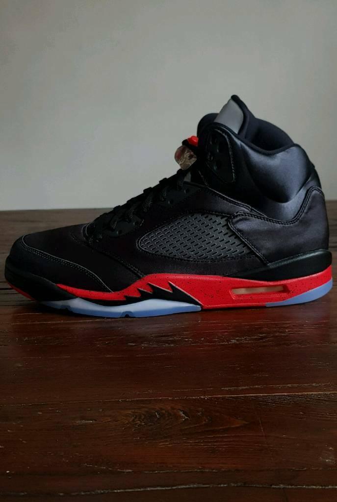 900a2186f70dc8 Nike Air Jordan 5 Retro Black University Red • UK 11 EU 46 US 12 • BNIB