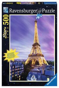 500 Teile Ravensburger Puzzle Star Line leuchtet Funkelnder Eiffelturm 14898