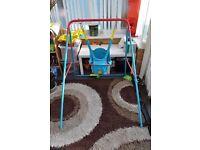 Perfect codition outdoor/indoor baby swing