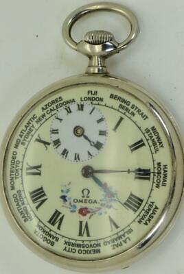 Very collectible antique Omega WORLD TIME/Second Time Zone pocket watch c1900's