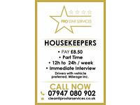 Housekeepers & Cleaners Wanted