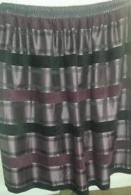 Purple and black curtains