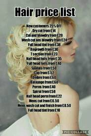 Hairdresser and hair extensionist