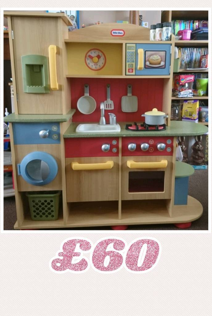 Little Tikes Wooden Kitchen And Accessories