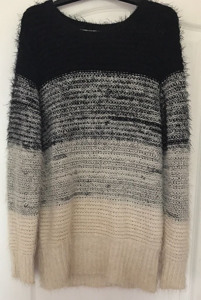 Oversized Pull Over Knit Sweater Jumper, UK S