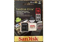 San disk Memory Micro card Extreme Plus 16gb +Adaptor