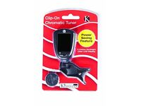 Kinsman KAC205 Chromatic Clip On Tuner - Black