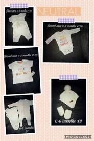 Neutral baby items