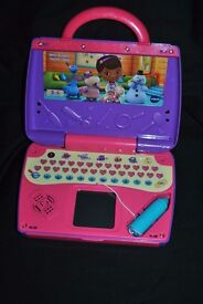 Doc mcstuffins write aand learn laptop as new