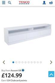 HomCom Gloss TV cabinet - 3 Drawers - see description!