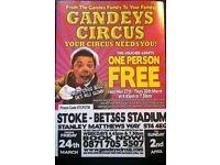 Gandys circus tickets x 4
