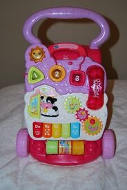 VTech First Steps Baby Walker - Pink £10 Brilliant condition