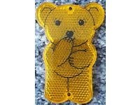 Stocking filler - Cute yellow teddy bear child's reflector – post or collect