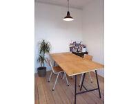 Large Desks in a Semi Enclosed Space - Creative Studio Building - Hoxton - Hackney - Shoreditch