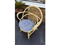 Cane Chair & Cushion.
