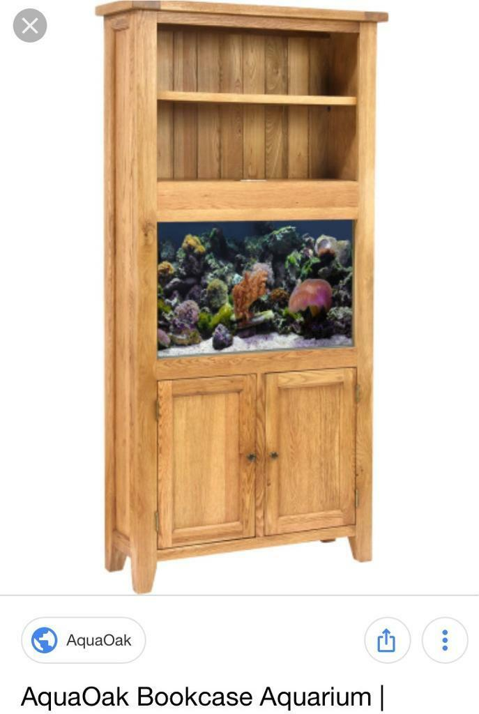 Aqua Oak Aquarium With Bookshelf Stand