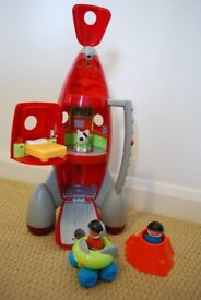 ELC Rocket with astronauts, dog, moon buggy and crater