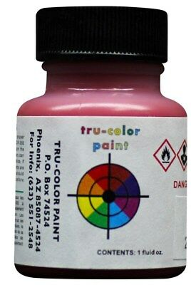 Tru-color Paint High Gloss Rallye Red White 1oz Bottle Airbrush Lacquer -
