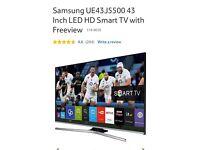 43 inch Samsung smart HD TV model number UE43J5500