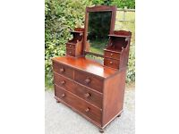 Solid mahogany antique dressing table