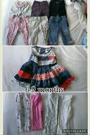 6-9 month girls bundle of clothes