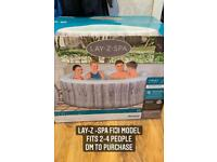 Brand new in box lay z spa hot tub jacuzzi 2-4 people ( relax pool lazy spa outdoor garden water )