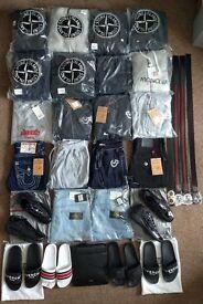 Men's Tracksuits, Jeans, Belts, Shoes, Slides - True Religion, Stone Island, Armani, Givenchy