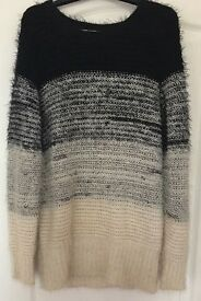 Oversized Pull Over Knit Sweater Jumper, UK S