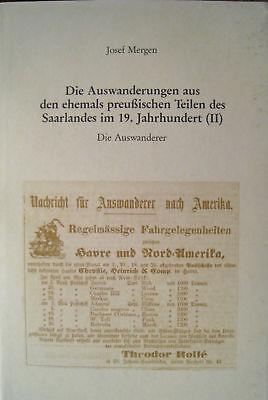 Auswanderung Genealogie Saar 19. Jahrhundert Saarland