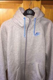 Grey Nike Men's hoodie - size small