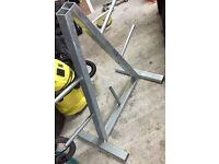 Heavy duty weight-plate storage tree rack