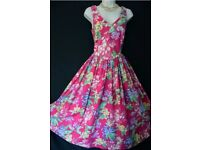 Laura Ashley vintage floral tea dress size 8 label