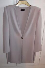 Elegant Frank Usher Tunic style jacket in oyster-grey colour