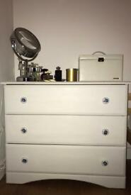 Chest of drawers with bedside table