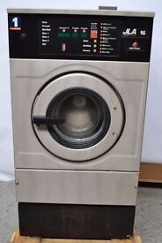 JLA 16 HC75C STAINLESS STEEL COMMERCIAL WASHING MACHINE. USED