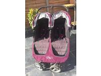 Baby jogger city mini double buggy purple