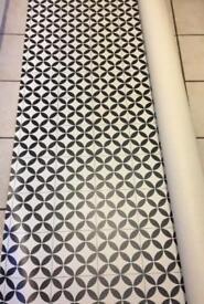 Brand new black and white geo vinyl flooring 2x3m2