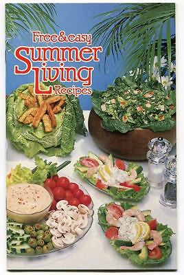 FREE & EASY SUMMER LIVING RECIPES COOK BOOKLET MAZOLA HELLMANS BEST FOOD MAYO