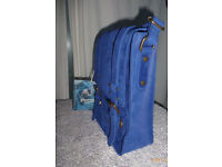 John Partridge Azul Blue Messenger Shoulder Bag in Nubuck Leather - Brand New