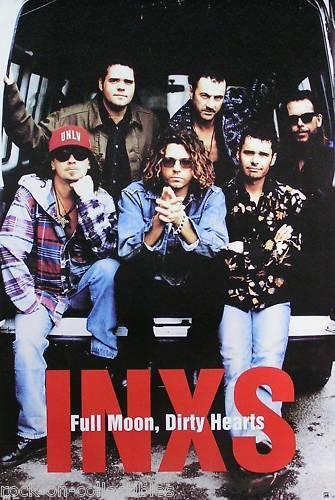 INXS 1993 Full Moon, Dirty Hearts Original Promo Poster