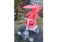 Smart trike with rain cover.vgc. KINGSWOOD,BRISTOL-PAID NEARLY £100.00