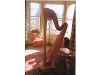 Excellent condition, beautiful sounding harp for sale. Selling due to preference of the smaller harp